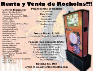 Renta y Venta de Rockolas Houston Monterrey